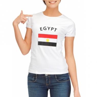 T-shirt met egyptische vlag print voor dames