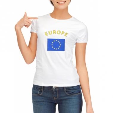 T-shirt met europese vlag print voor dames
