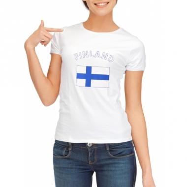 T-shirt met finse vlag print voor dames