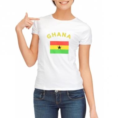 T-shirt met ghanese vlag print voor dames