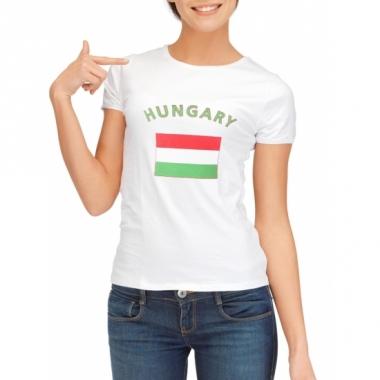 T-shirt met hongaarse vlag print voor dames
