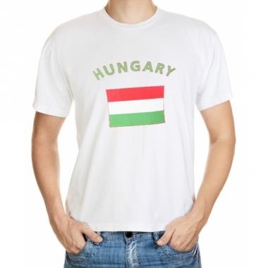 T-shirt met hongaarse vlag print