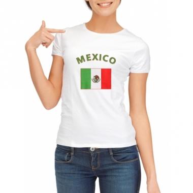 T-shirt met mexicaansevlag print voor dames