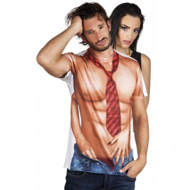 T-shirt met naakte man opdruk