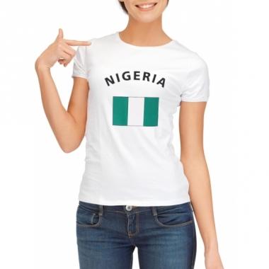 T-shirt met nigeriaanse vlag print voor dames