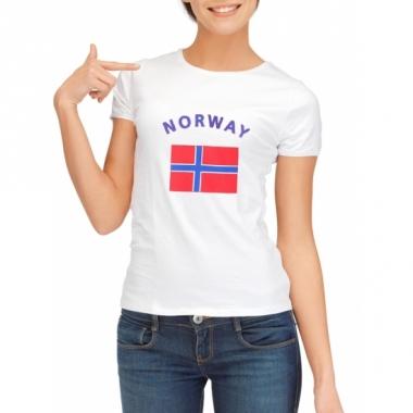 T-shirt met noorse vlag print voor dames