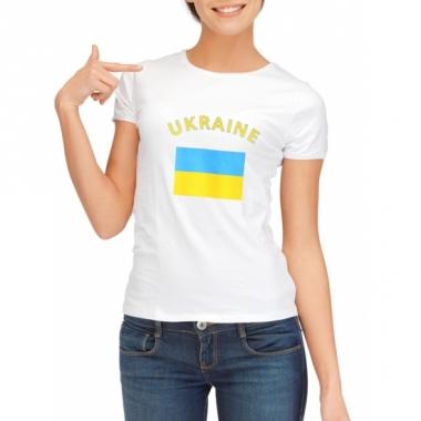 T-shirt met oekraiense vlag print voor dames