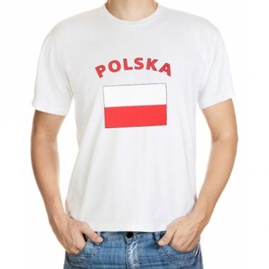 T-shirt met poolse vlag print