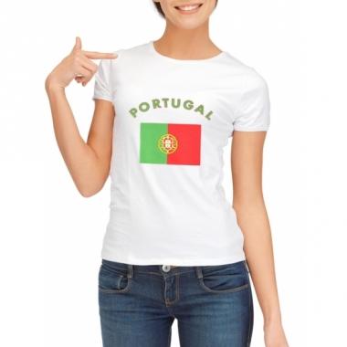 T-shirt met portugese vlag print voor dames
