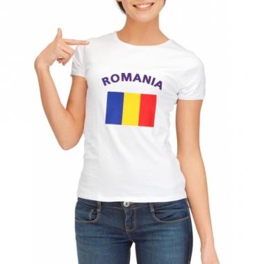 T-shirt met roemeense vlag print voor dames