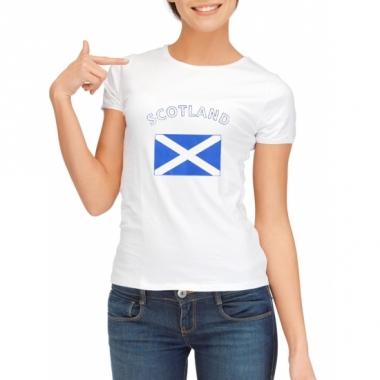 T-shirt met schotse vlag print voor dames