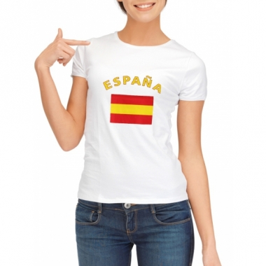 T-shirt met spaanse vlag print voor dames
