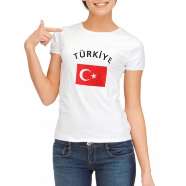 T-shirt met turkse vlag print voor dames