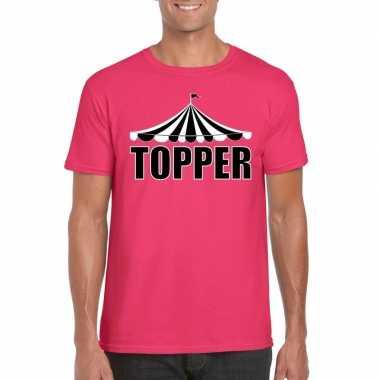 T-shirt roze topper heren