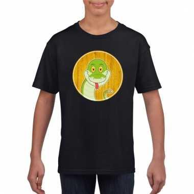 T-shirt slang zwart kinderen