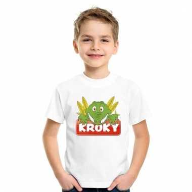 T-shirt voor kinderen met kroky de krokodil