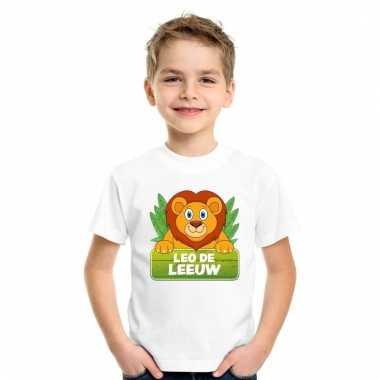 T-shirt voor kinderen met leo de leeuw