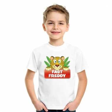 T-shirt voor kinderen met luipaard fast freddy