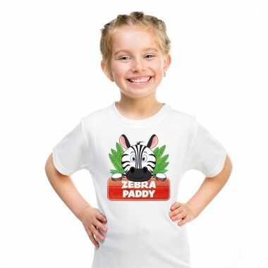 T-shirt voor kinderen met paddy de zebra