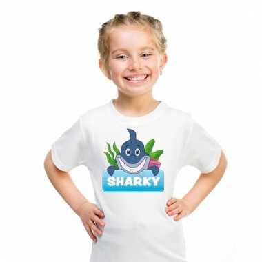 T-shirt voor kinderen met sharky de haai