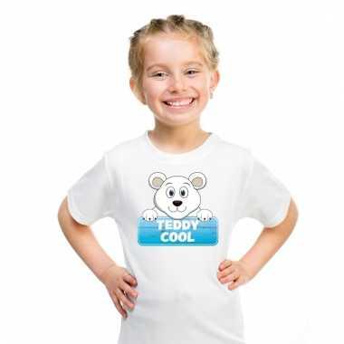 T-shirt voor kinderen met teddy cool de ijsbeer