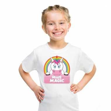 T-shirt voor meisjes met miss magic de eenhoorn
