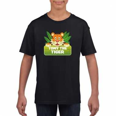 T-shirt zwart voor kinderen met tony the tiger