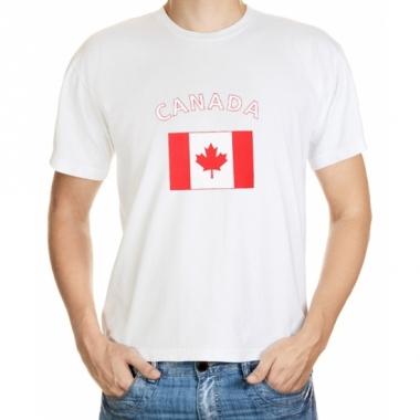 T-shirts met canadese vlag print