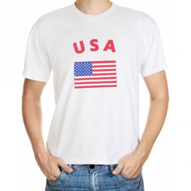 T-shirts met usa vlag print