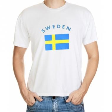 T-shirts met zweedse vlag print