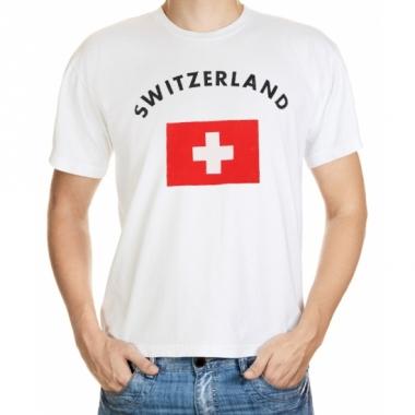 T-shirts met zwitserse vlag print