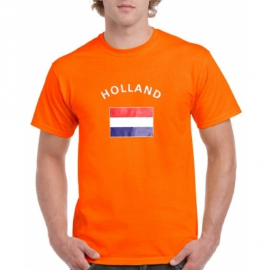 T-shirts van vlag holland oranje