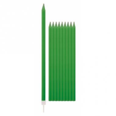 Taartkaarsjes in de kleur groen 10x