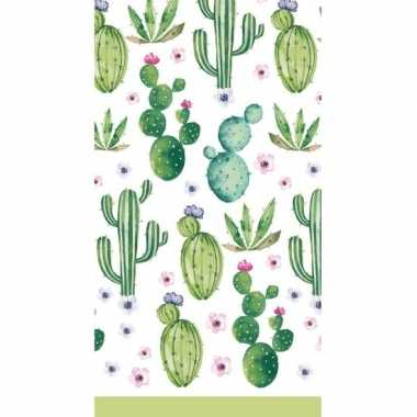 Tafelkleed cactus print 138 x 220 cm