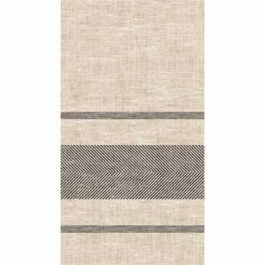 Tafellaken/tafelkleed met linnen design 138 x 220 cm