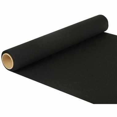 Tafelversiering tafelloper zwart 480 x 40 cm