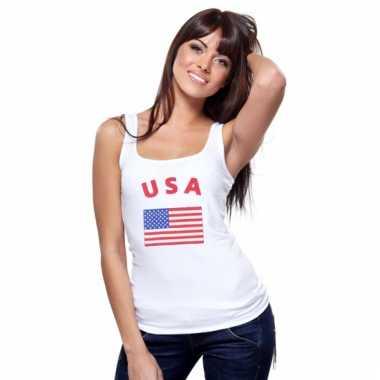 Tanktop met amerikaanse vlag print voor dames
