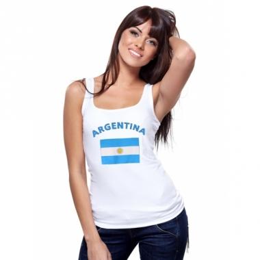 Tanktop met argentijnse vlag print voor dames