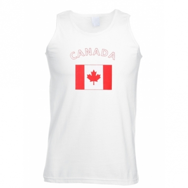 Tanktop met canadese vlag print
