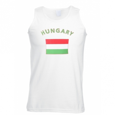 Tanktop met hongarije vlag print