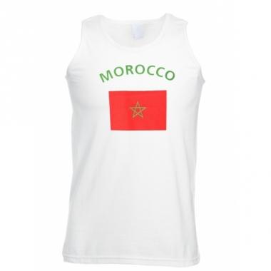 Tanktop met marokko vlag print