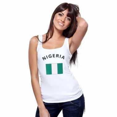 Tanktop met nigeriaanse vlag print voor dames