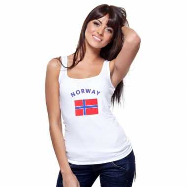 Tanktop met noorse vlag print voor dames