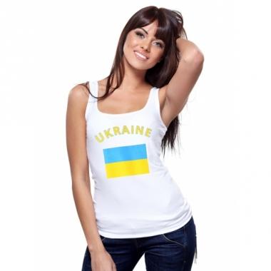 Tanktop met oekraiense vlag print voor dames