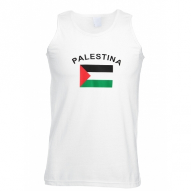 Tanktop met palestina vlag print