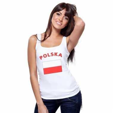 Tanktop met poolse vlag print voor dames
