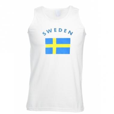 Tanktop met zweden vlag print