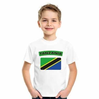 Tanzaniaanse vlag kinder shirt wit