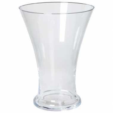 Taps uitlopende vaas glas 30 cm