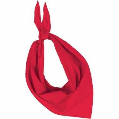 Team kleur rood zakdoeken/bandanas voor volwassenen